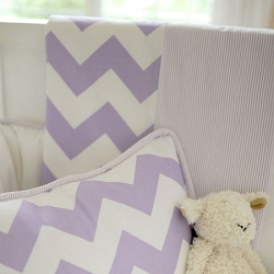 Lavender Chevron Crib Blanket | Zig Zag Baby in Lavender Crib Collection