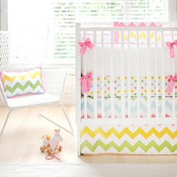 Rainbow Chevron Baby Bedding  |  Zig Zag Baby in Rainbow Crib Collection