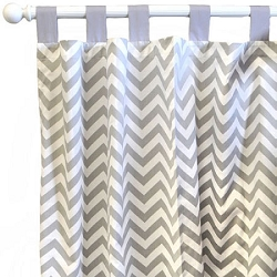 Chevron Curtain Panels | Zig Zag Baby in Gray Collection