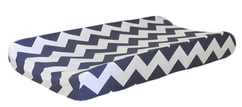 Navy Chevron Changing Pad Cover | Zig Zag Baby in Navy Crib Collection