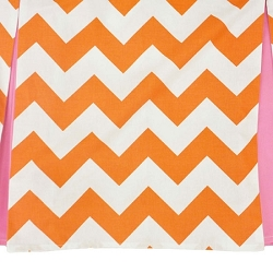 Zig Zag Baby in Tangerine with Pleated Skirt