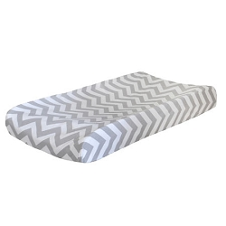 Gray Chevron Changing Pad Cover  | Zig Zag Baby in Gray Crib Collection