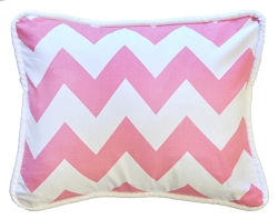 Hot Pink Chevron Throw Pillow  |  Zig Zag Baby in Hot Pink Crib Collection