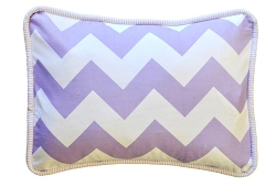 Lavender Chevron Throw Pillow  |  Zig Zag Baby in Lavender Crib Collection