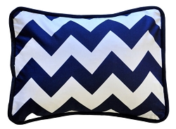 Navy Chevron Throw Pillow  |  Zig Zag Baby in Navy Crib Collection