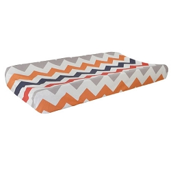 Boy Chevron Changing Pad Cover | Zig Zag Baby in Rugby Crib Collection