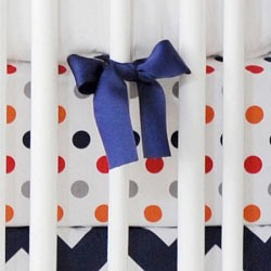 Polka Dot Crib Sheet | Zig Zag Baby in Rugby Collection