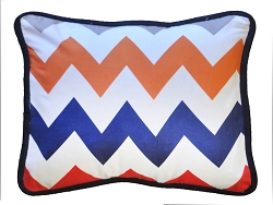 Boy Chevron Throw Pillow  |  Zig Zag Baby in Rugby Crib Collection