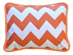 Chevron Throw Pillow | Zig Zag Baby in Tangerine Crib Collection