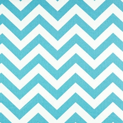 Premier Prints Chevron Zig Zag Girly Blue Twill