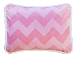 Pink Sugar Chevron Throw Pillow | Zig Zag Baby in Pink Sugar Crib Collection