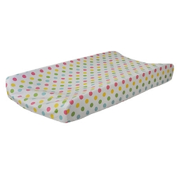 Multi Polka Dot Changing Pad Cover | Zig Zag Baby in Rainbow Crib Collection