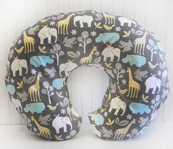 Zoo Animals Nursing Pillow Slipcover  | Urban Zoo Crib Collection