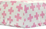 Uptown in Hot Pink Crib Sheet