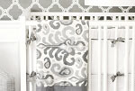 Urban Ikat in Gray Crib Bumper