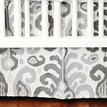 Urban Ikat in Gray Crib Skirt