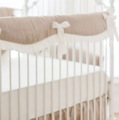 Sateen Ivory Crib Sheet | Washed Linen Collection