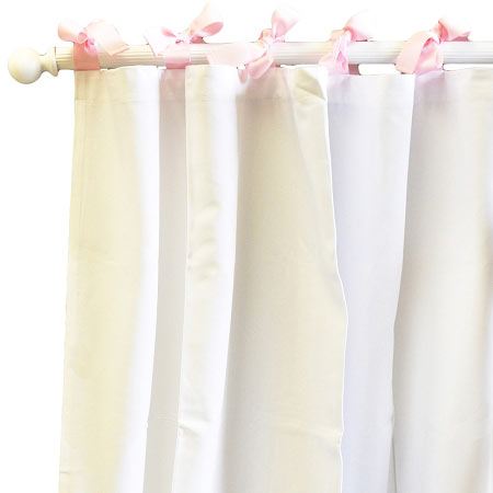 White Curtains | Nursery Curtains | Pink Curtains | Pink and White ...