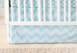 Zig Zag Baby in Aqua Crib Skirt