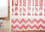 Zig Zag in Hot Pink Crib Skirt