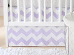 Zig Zag Baby in Lavender Crib Skirt