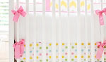 Zig Zag Baby in Rainbow Crib Bumper