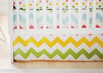 Zig Zag Baby in Rainbow Crib Skirt
