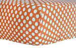 Zig Zag Baby in Tangerine Crib Sheet