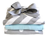 Zig Zag Baby in Aqua Burp Cloth Set