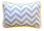 Zig Zag Throw Pillow in Yellow