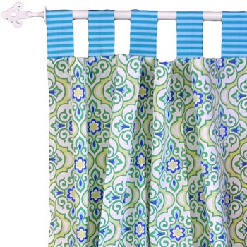 Green Curtains blue and green curtains : Blue Green Curtain Panels, Nursery Curtains, Blue Curtain Panels ...