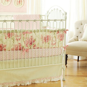 Vintage Floral Baby Bedding |  Roses for Bella Crib Collection