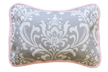 Gray Damask Throw Pillow  |  Stella Gray Crib Collection