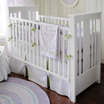 Lavender Damask Baby Bedding  |  Sweet Violet Crib Collection
