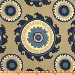 Blue Stone Medallion Fabric