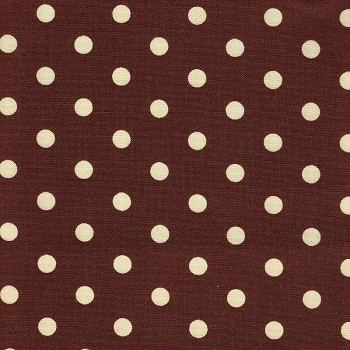 Brown Polka Dot Crib Sheet
