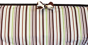 Chocolate & Mint Stripe Crib Bumper