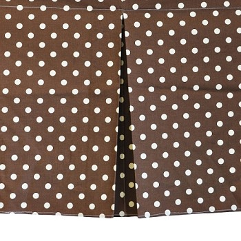 Chocolate Polka Dot Curtain Valance