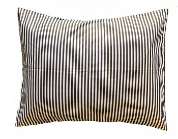 Chocolate Stripe Standard Pillow Sham
