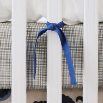 Blue & Khaki Sketch Crib Sheet | Dakota Blue Collection