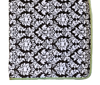 Dandy Damask in Green Crib Blanket