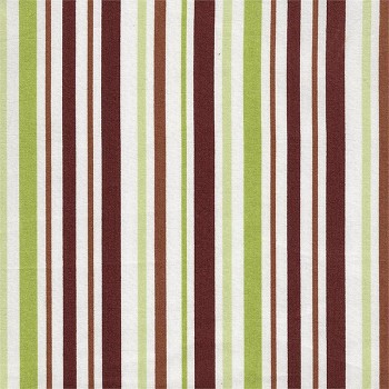 Chocolate & Olive Cotton Stripe Fabric