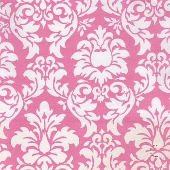 Dandy Damask in Pink Fabric