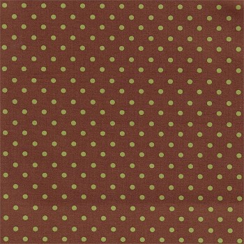 Petite Dots in Chocolate & Olive  Fabric