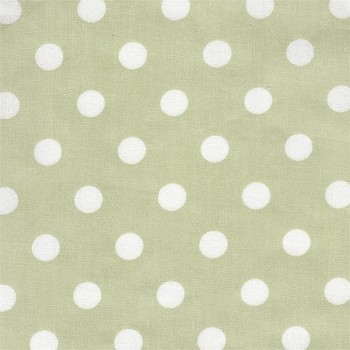White on Green Dot Fabric