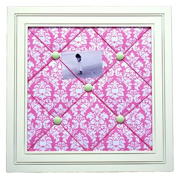 Pink Taffy Framed Memo Board
