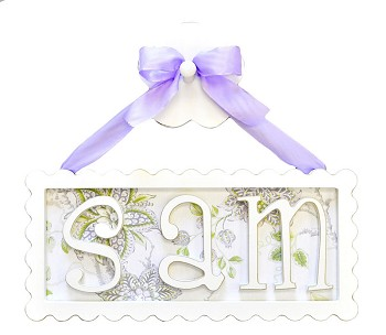 Scalloped Name Plaque - 3 Letters