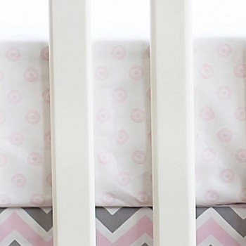 Pink Sunburst Crib Sheet | Peace, Love & Pink Collection