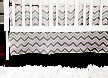 Peace, Love & Pink Crib Skirt