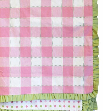 Pink Gingham Canopy with Ruffle